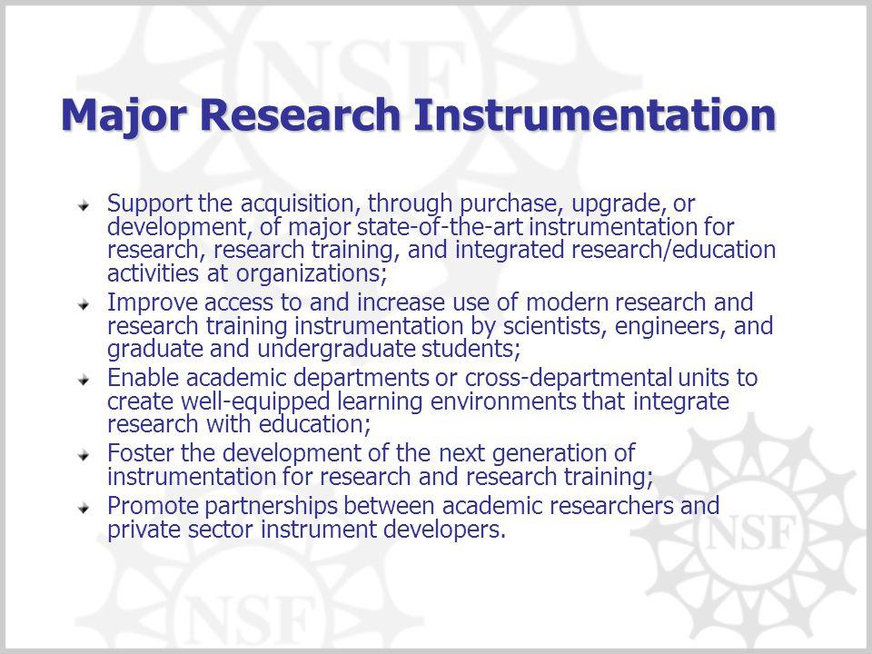 Major Research Instrumentation