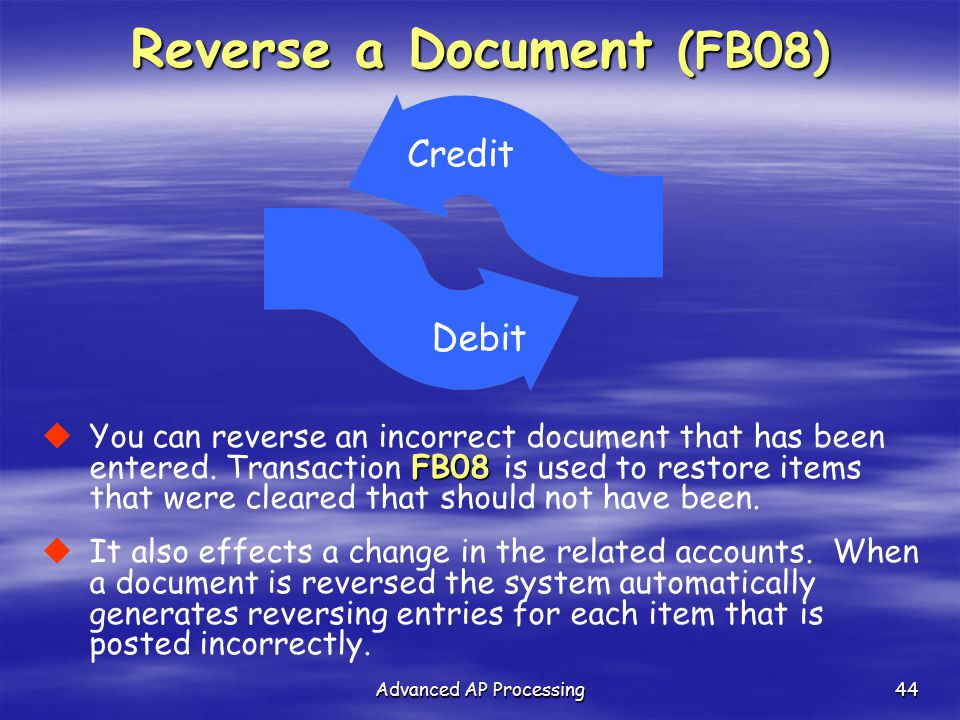 Reverse a Document (FB08)