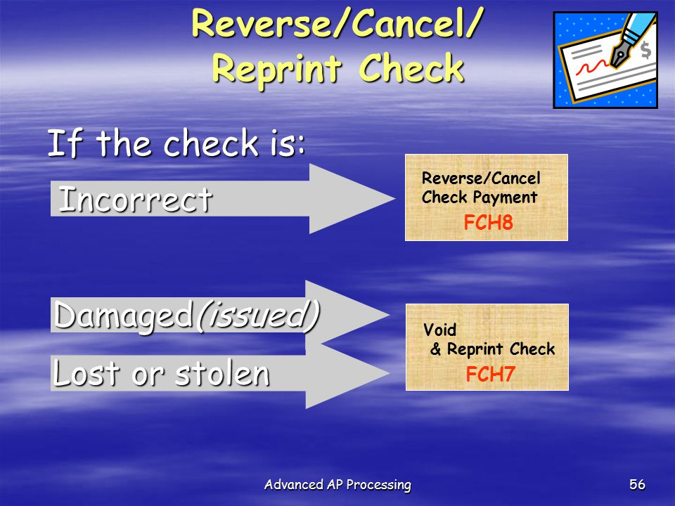 how to cancel a lost check