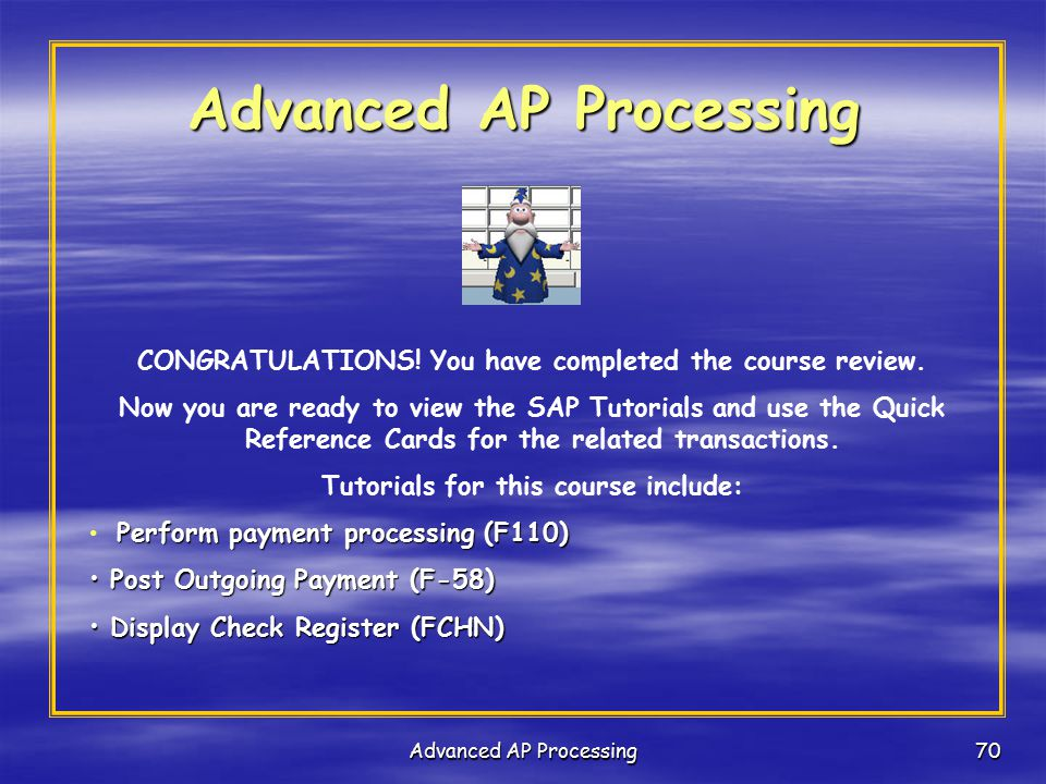 Advanced AP Processing