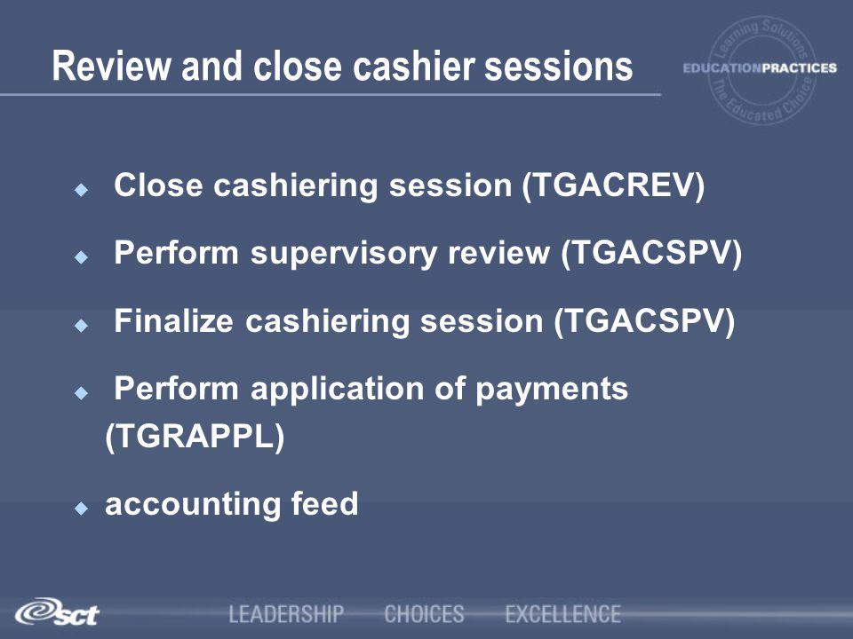 Review and close cashier sessions
