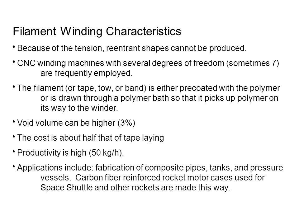 Filament Winding Characteristics