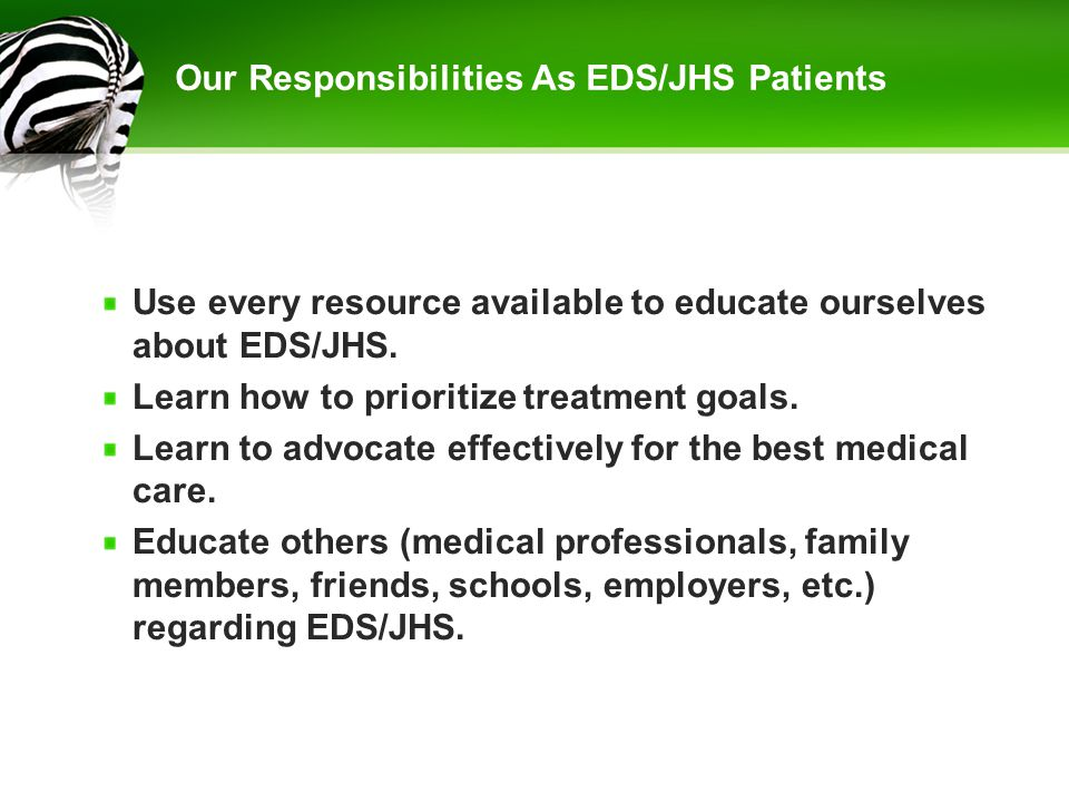Our Responsibilities As EDS/JHS Patients