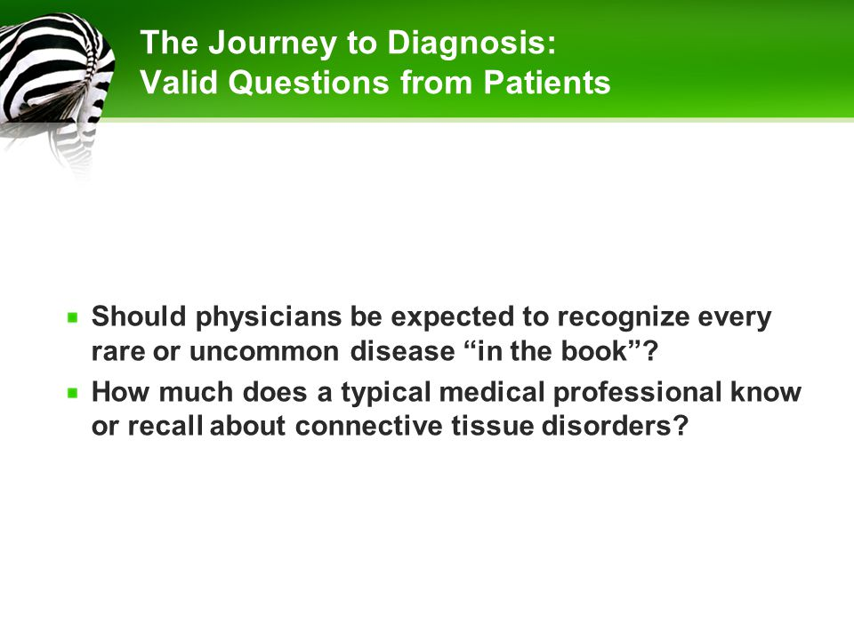 The Journey to Diagnosis: Valid Questions from Patients