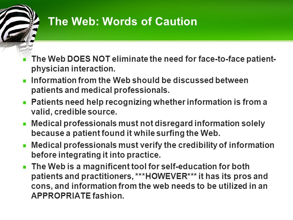 The Web: Words of Caution