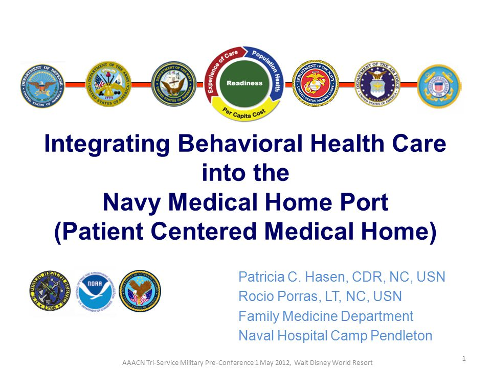 Integrating Behavioral Health Care into the Navy Medical Home Port (Patient Centered Medical Home)