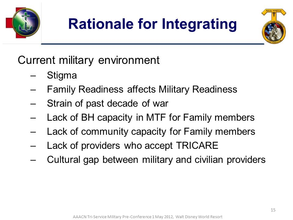 Rationale for Integrating