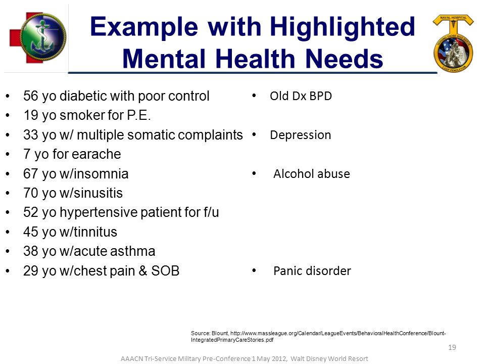 Example with Highlighted Mental Health Needs
