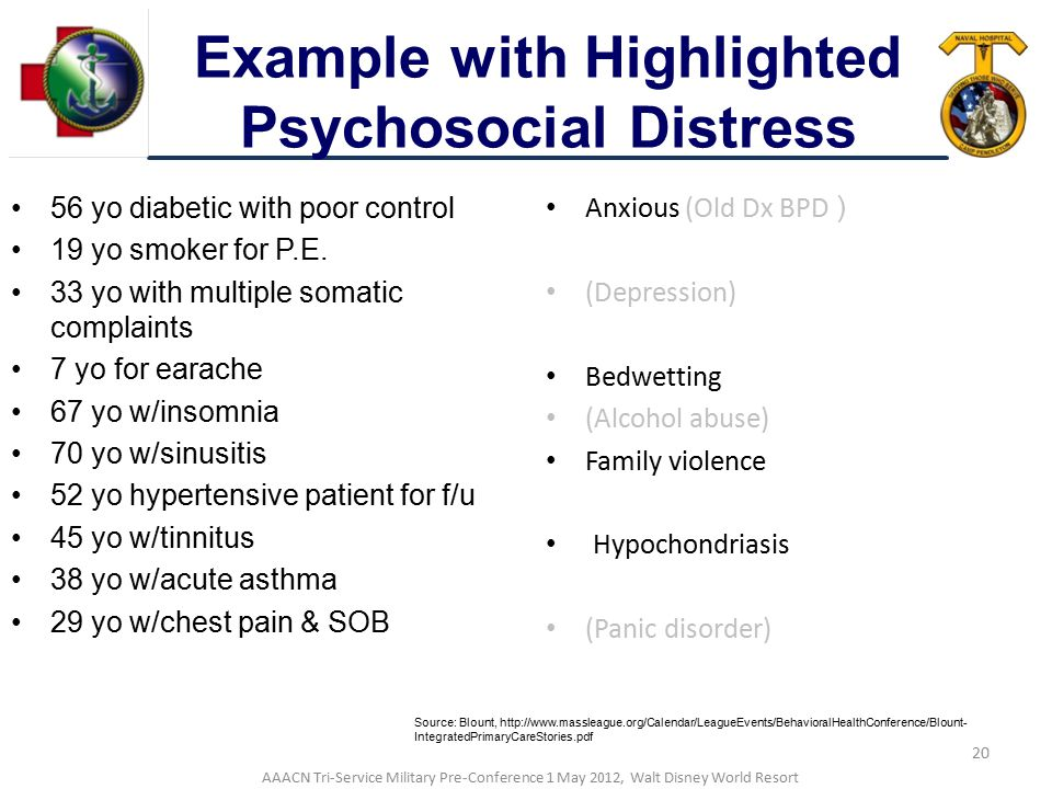 Example with Highlighted Psychosocial Distress
