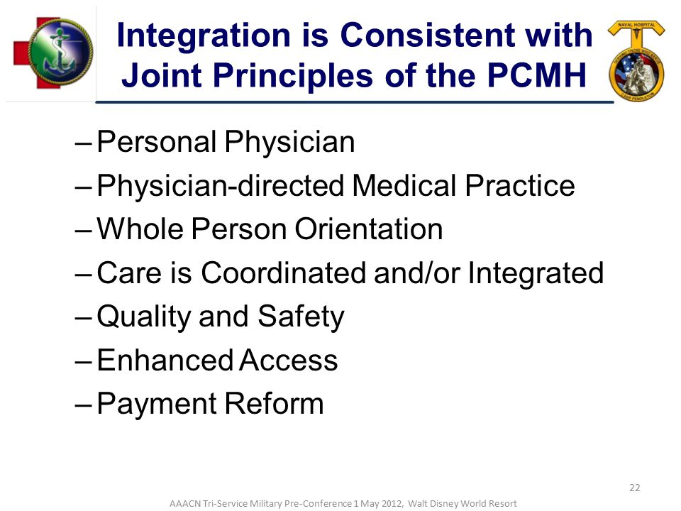 Integration is Consistent with Joint Principles of the PCMH