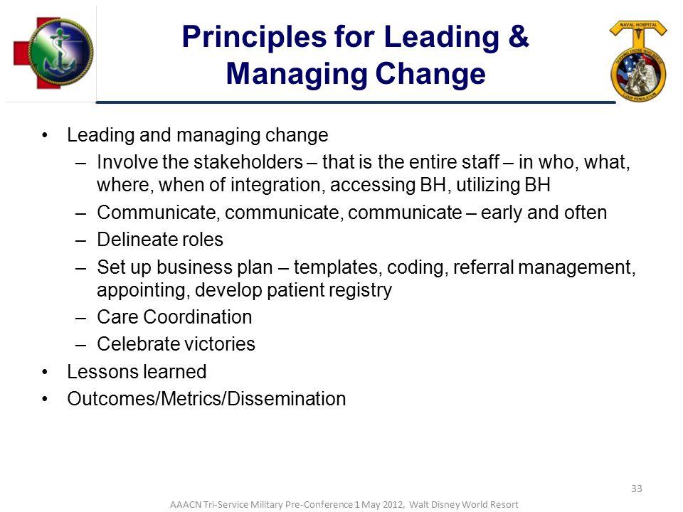 Principles for Leading & Managing Change