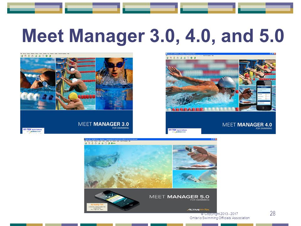 Meet Manager 3.0, 4.0, and 5.0