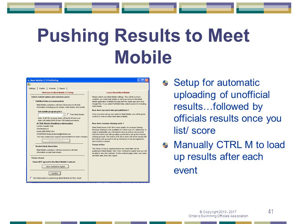 Pushing Results to Meet Mobile