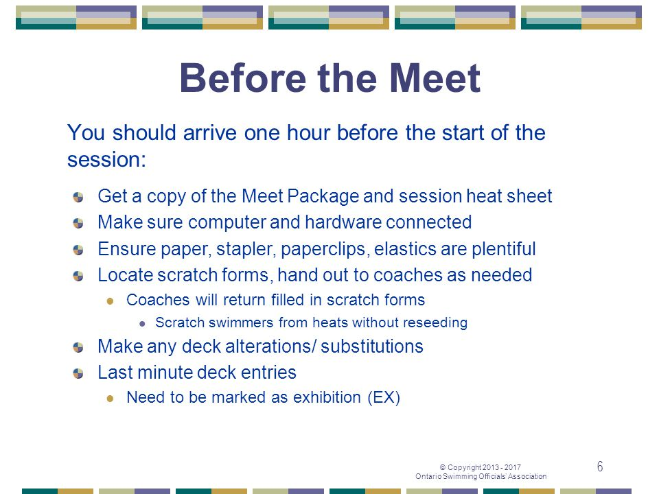 You should arrive one hour before the start of the session: