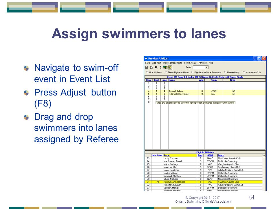 Assign swimmers to lanes