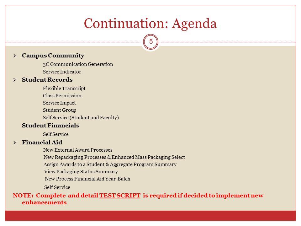 Continuation: Agenda Campus Community 3C Communication Generation