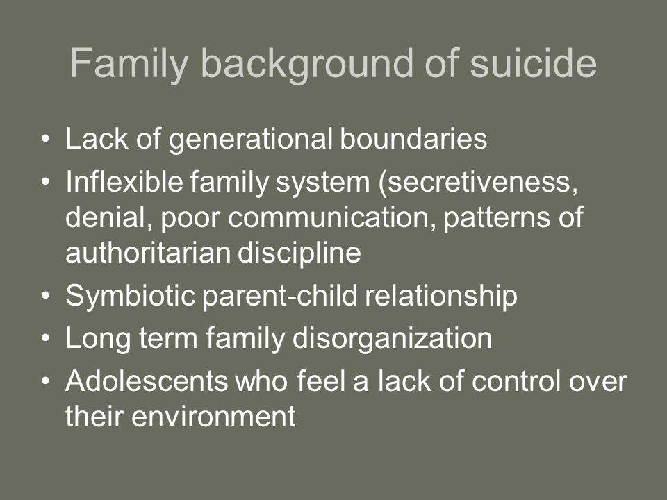 Family background of suicide