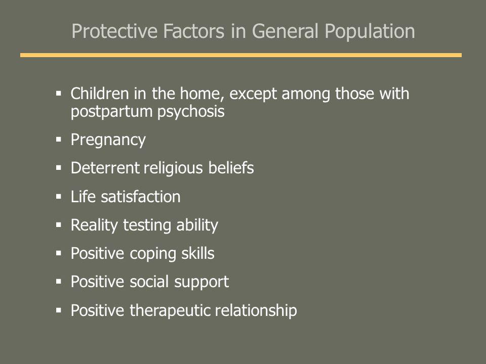 Protective Factors in General Population