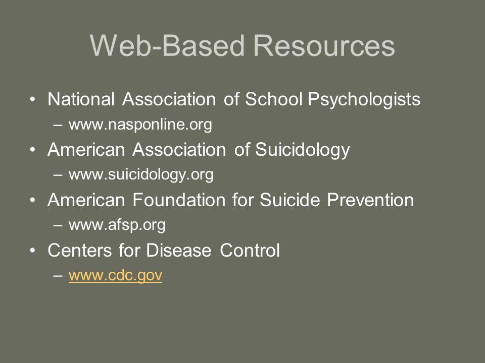 Web-Based Resources National Association of School Psychologists