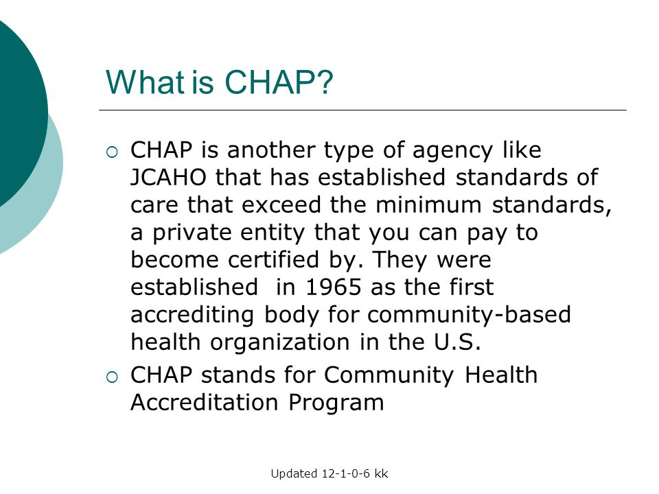 What is CHAP