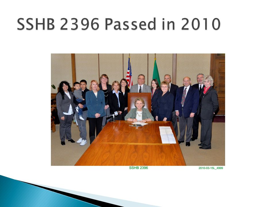 SSHB 2396 Passed in 2010