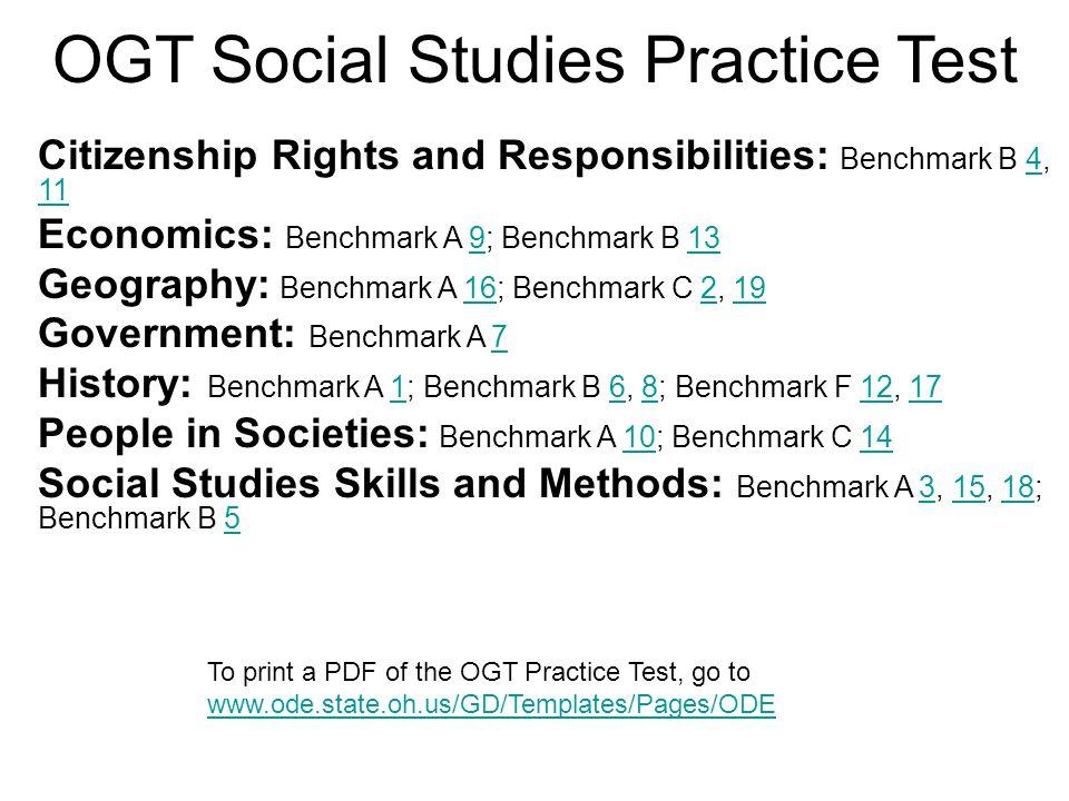 OGT Social Studies Practice Test