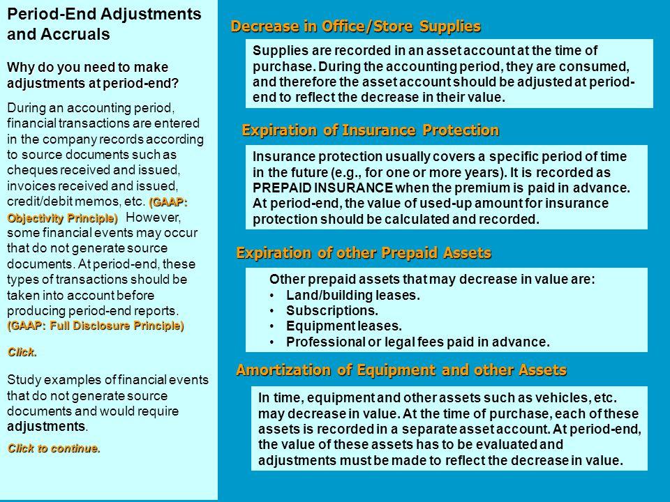 Period-End Adjustments and Accruals