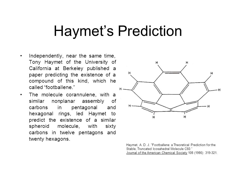 Haymet's Prediction