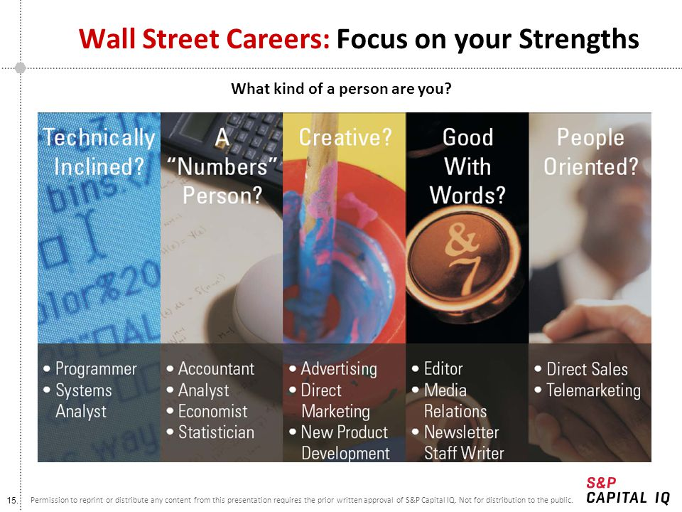 Wall Street Careers: Focus on your Strengths