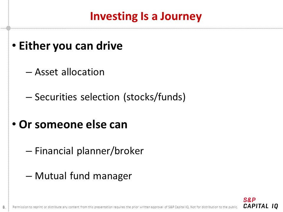 Investing Is a Journey Either you can drive Or someone else can