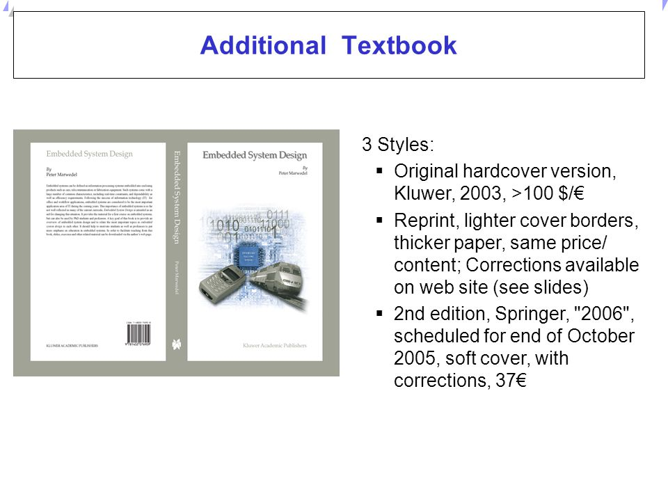 Additional Textbook 3 Styles: