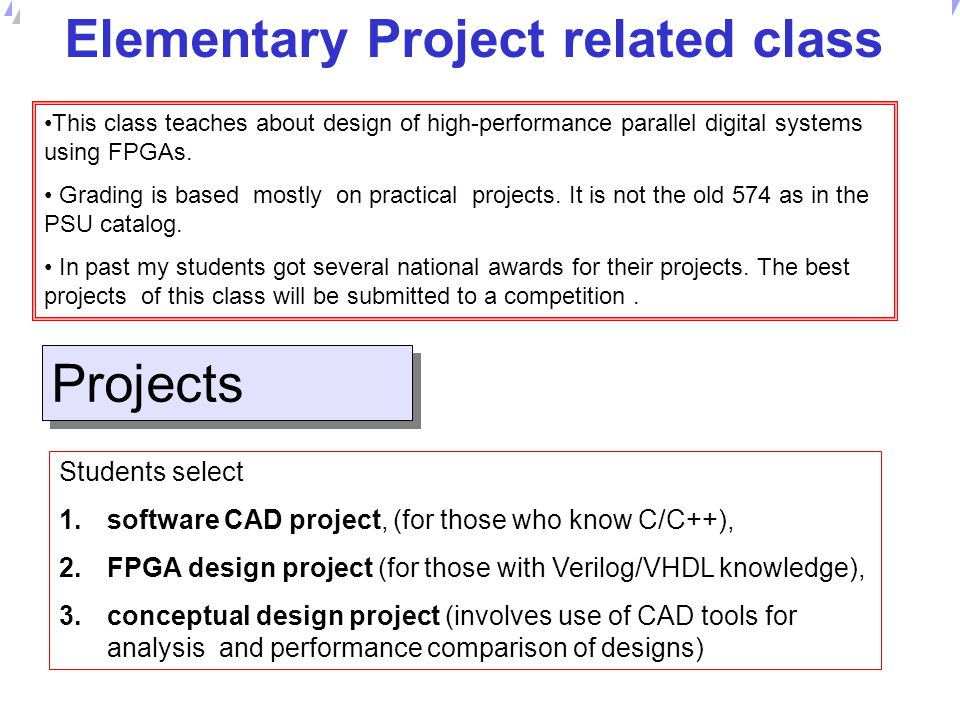 Elementary Project related class