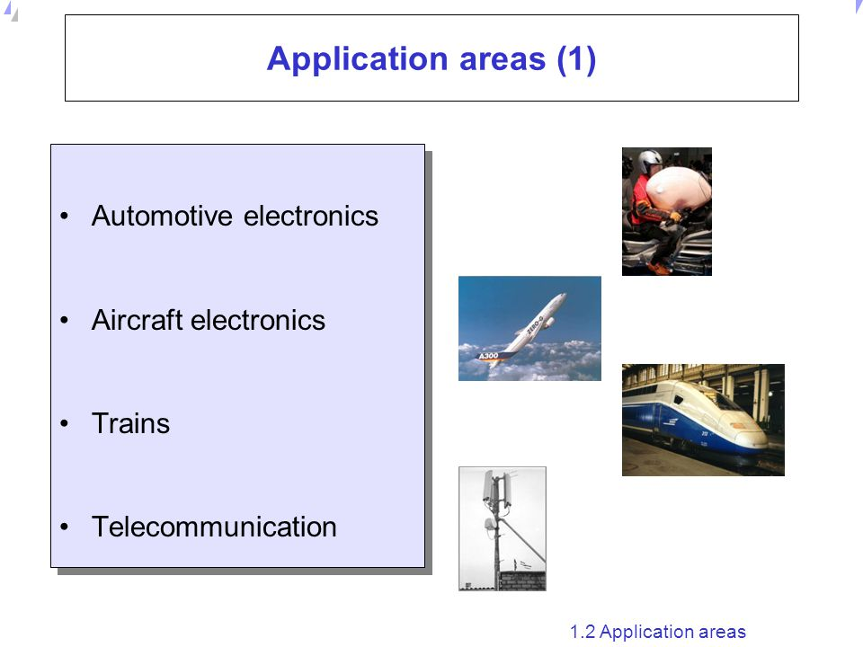 Application areas (1) Automotive electronics Aircraft electronics