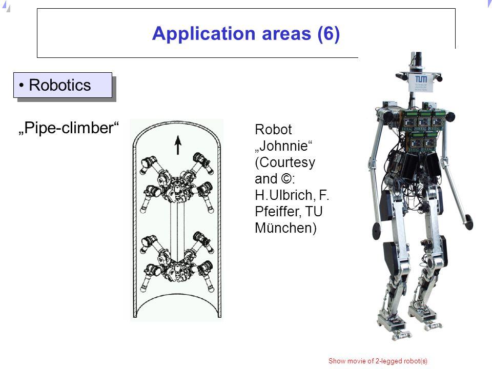 """Application areas (6) Robotics """"Pipe-climber"""
