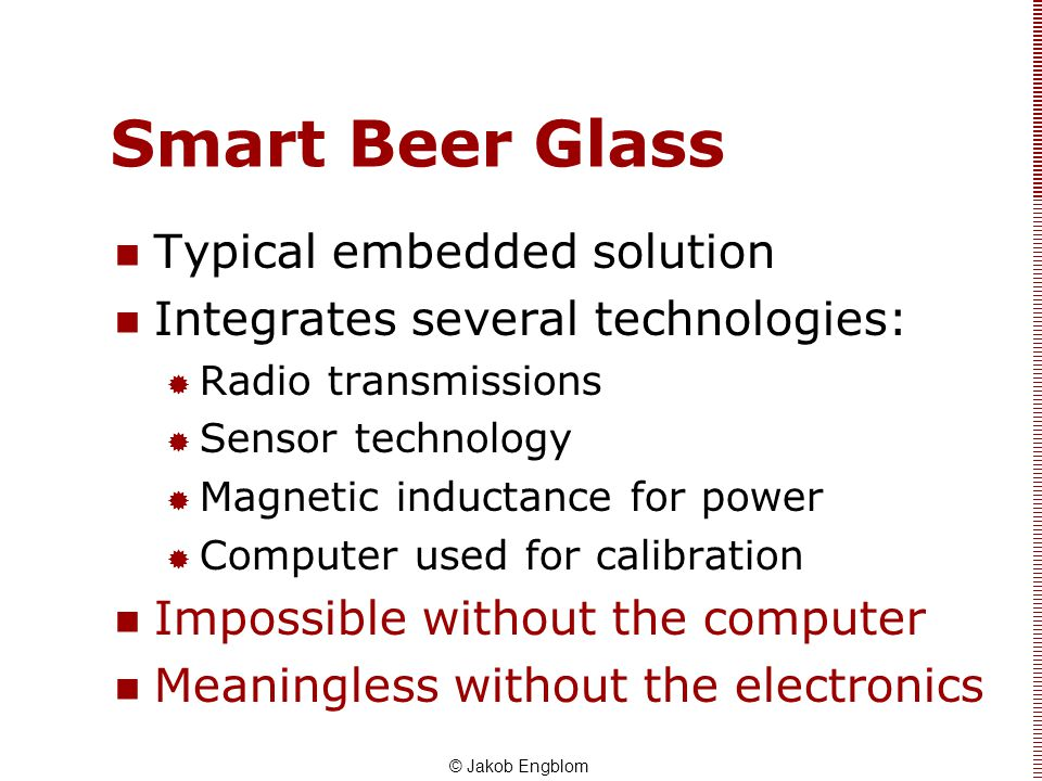 Smart Beer Glass Typical embedded solution