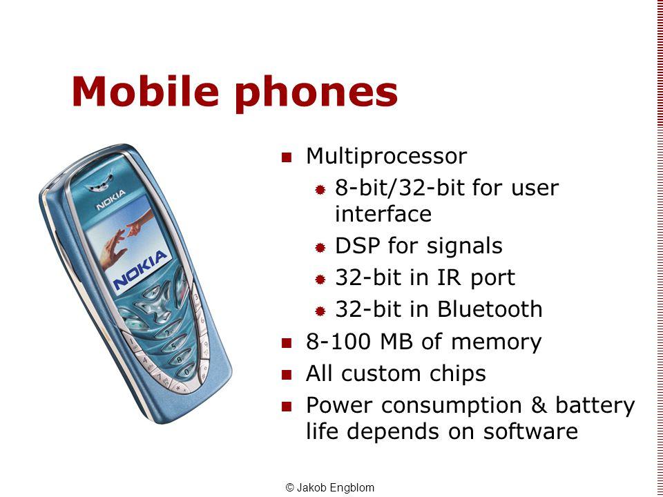 Mobile phones Multiprocessor 8-bit/32-bit for user interface