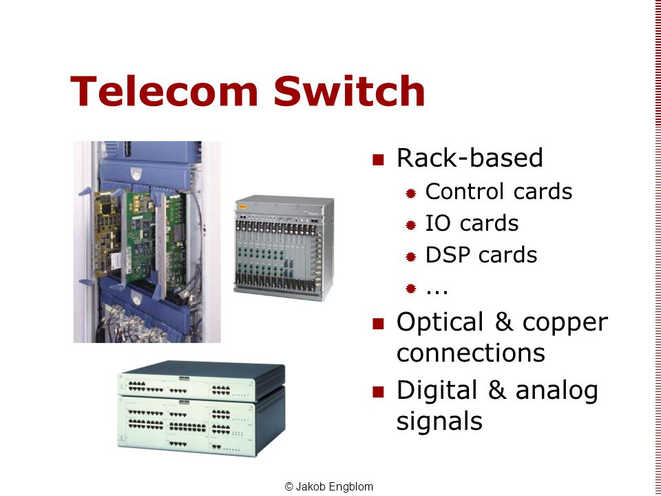 Telecom Switch Rack-based Optical & copper connections