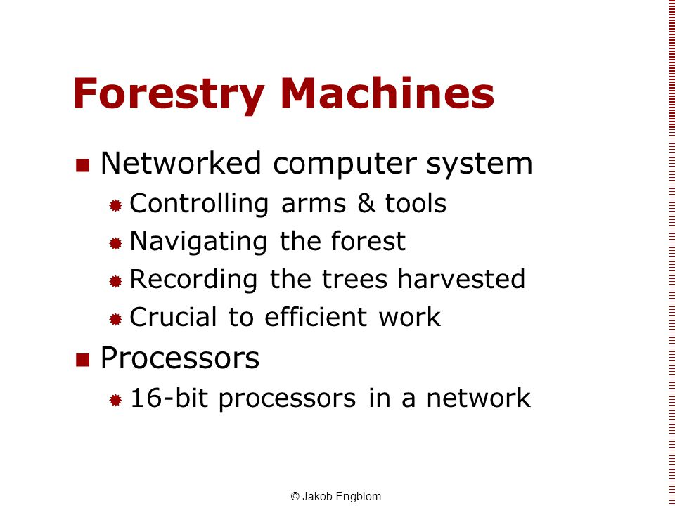 Forestry Machines Networked computer system Processors