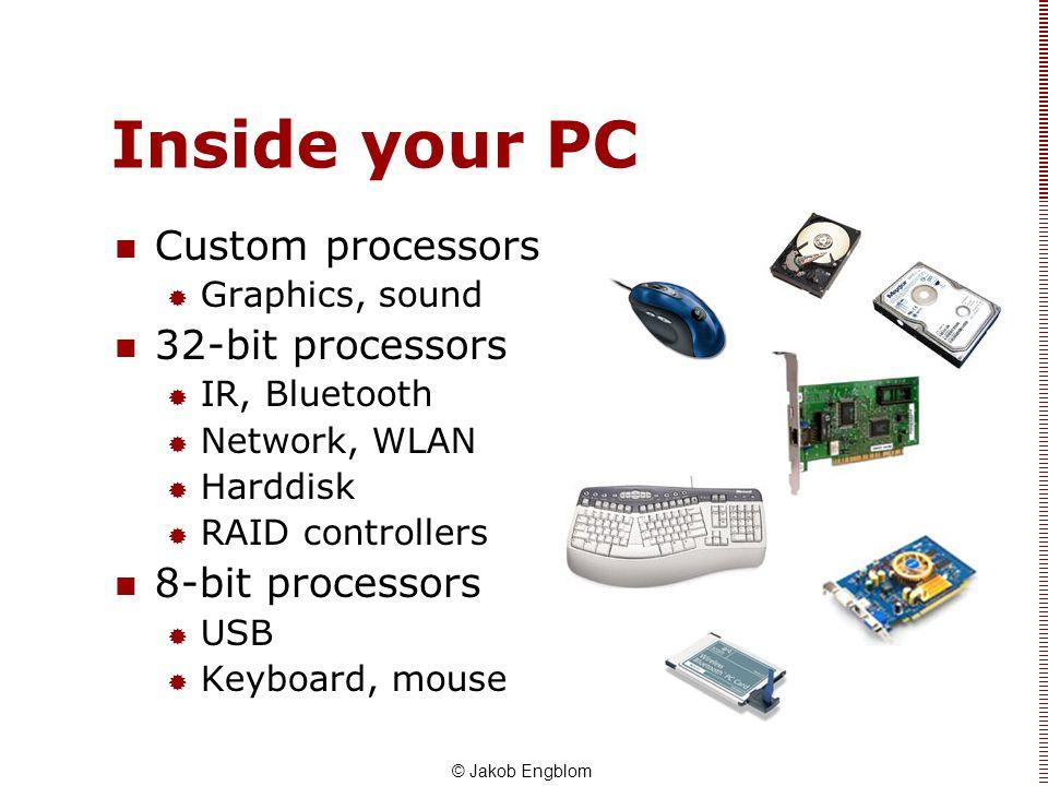 Inside your PC Custom processors 32-bit processors 8-bit processors