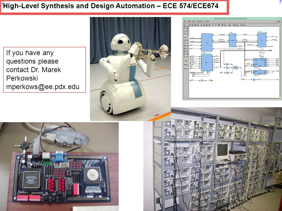 High-Level Synthesis and Design Automation – ECE 574/ECE674