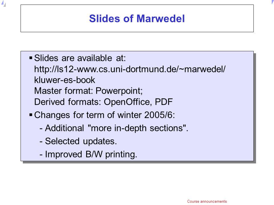 Slides of Marwedel