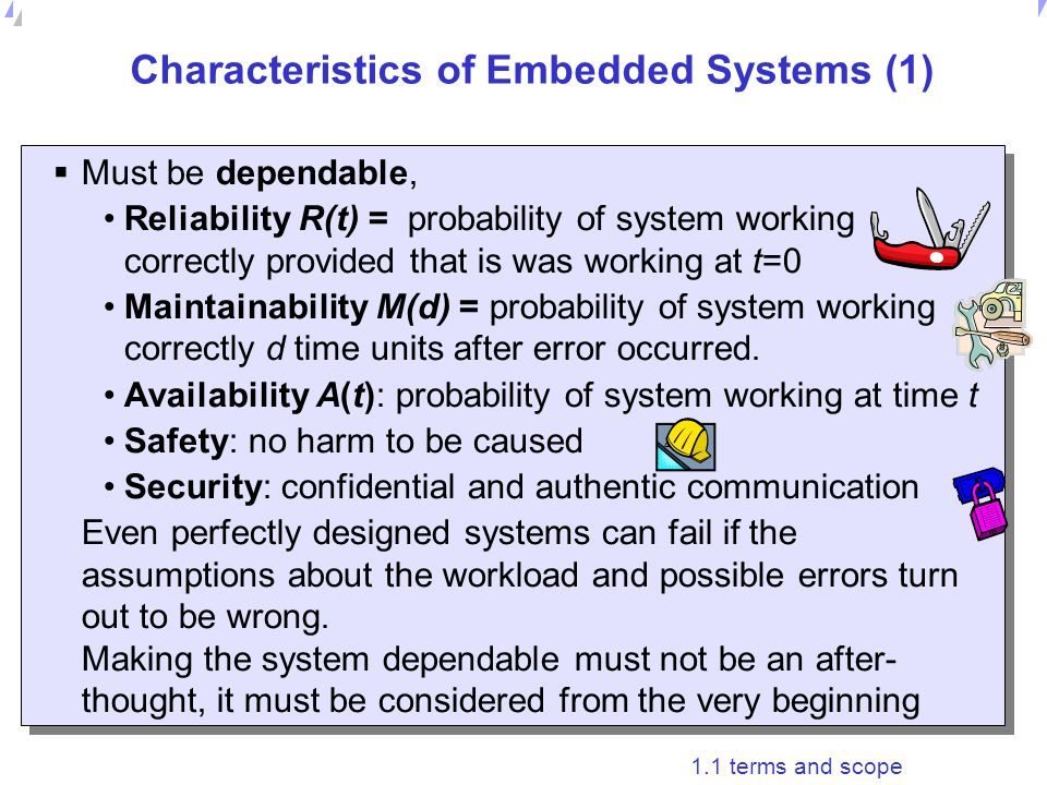 Characteristics of Embedded Systems (1)
