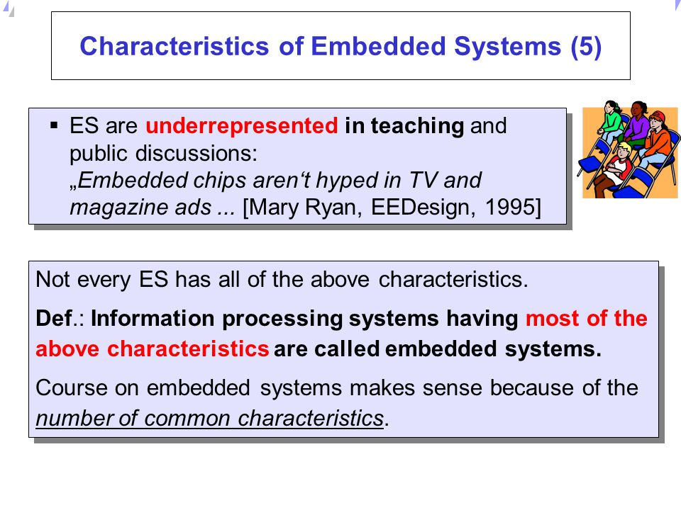 Characteristics of Embedded Systems (5)
