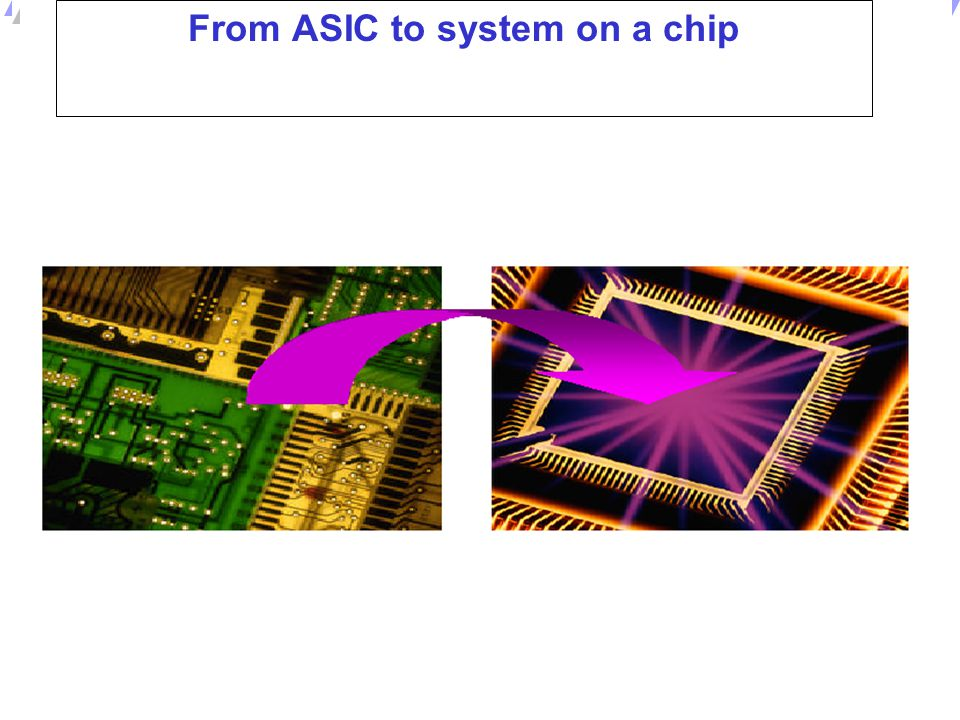 From ASIC to system on a chip