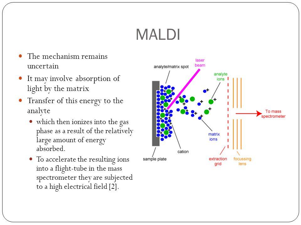 MALDI The mechanism remains uncertain