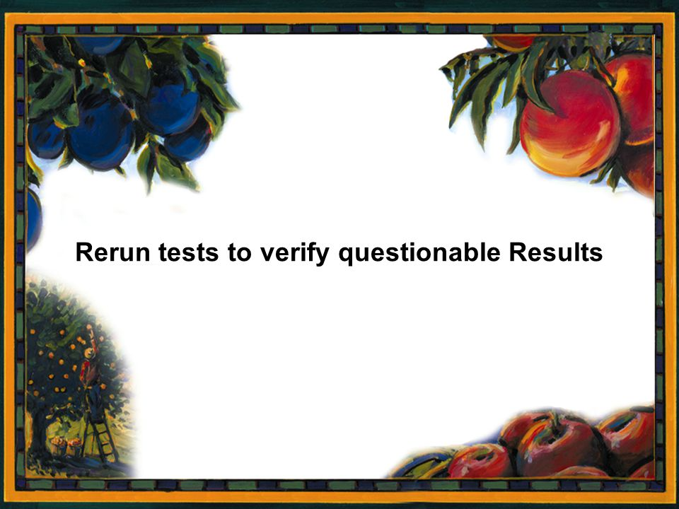 Rerun tests to verify questionable Results