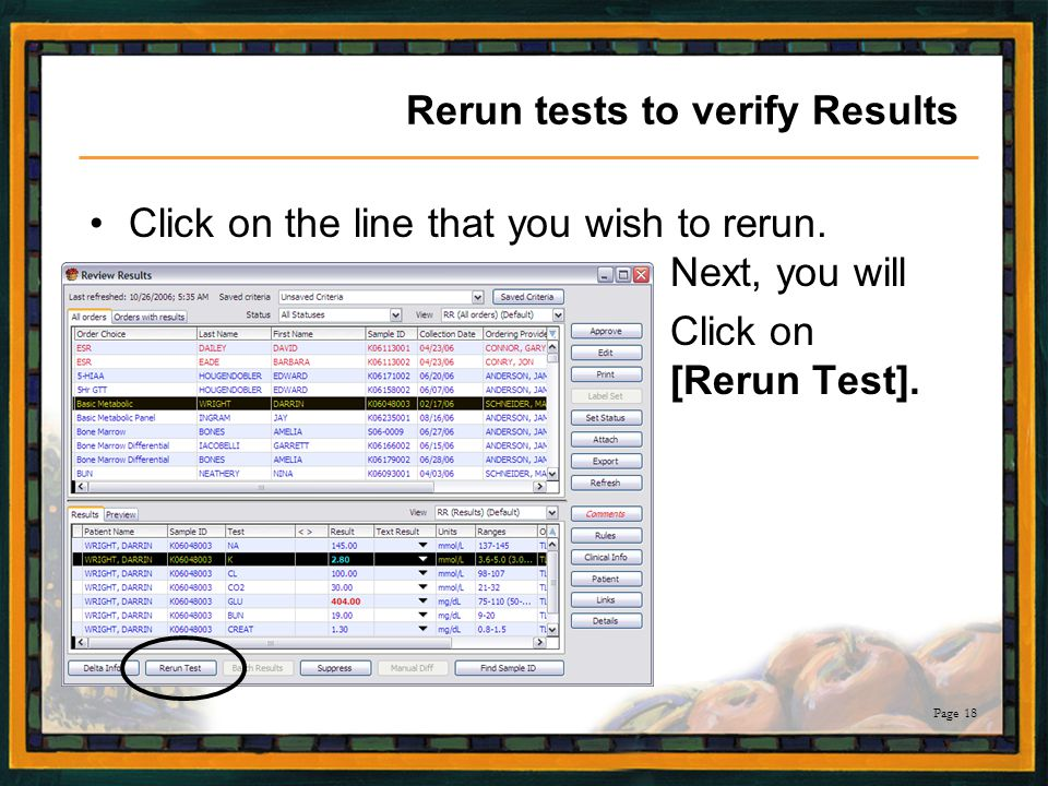 Rerun tests to verify Results