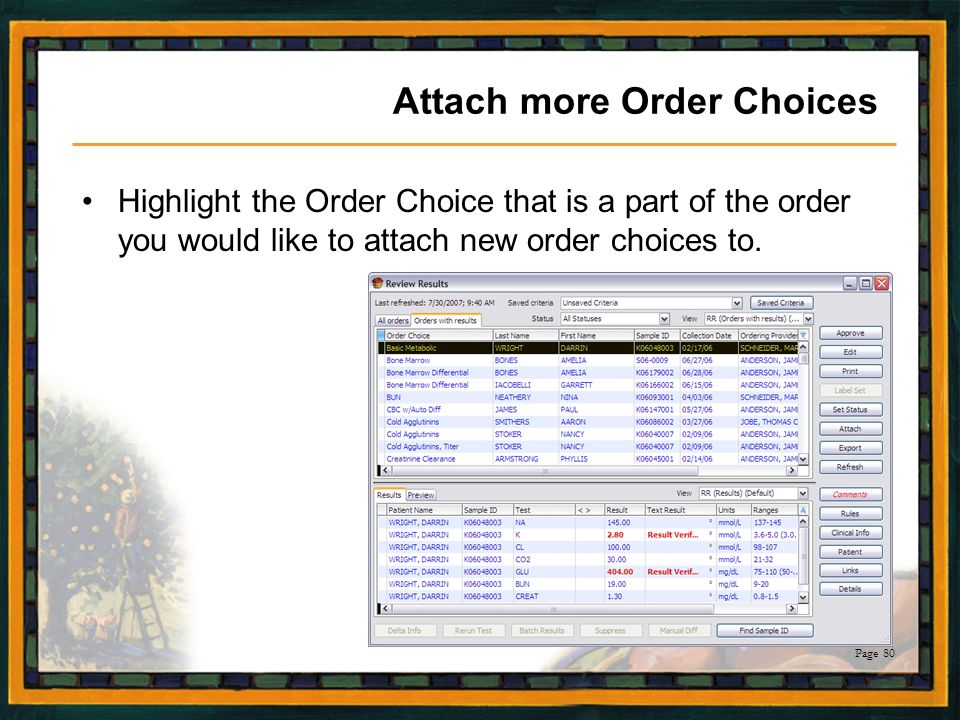 Attach more Order Choices