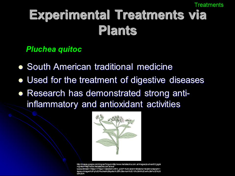 Experimental Treatments via Plants