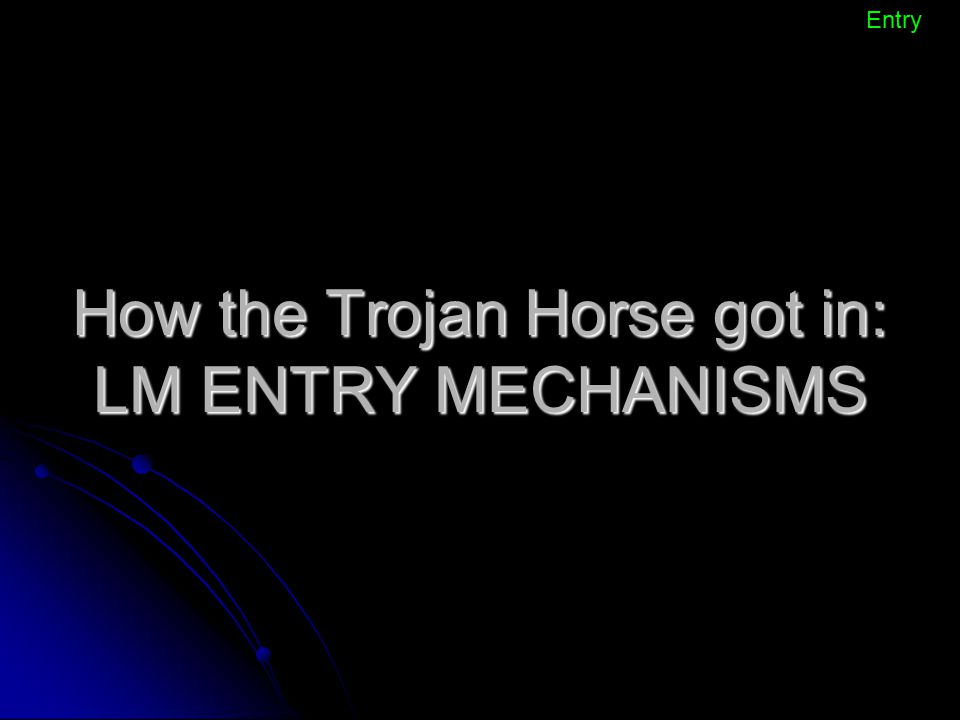 How the Trojan Horse got in: LM ENTRY MECHANISMS
